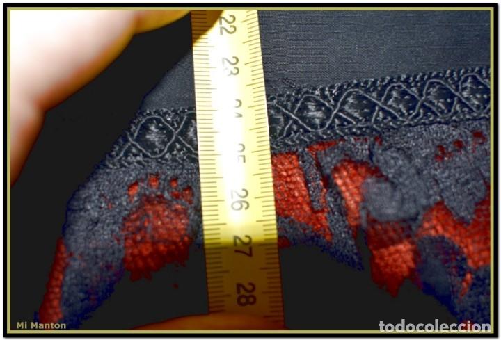 Antigüedades: Antigua mantilla de terno o goyesca con pedreria mantilla ofrenda - Foto 10 - 176918408