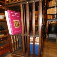 Antigüedades: MUEBLE LIBRERIRA GIRATORIO TIPO REVOLVING , MIDE LA CAJA 52X52 X 80. TOTAL ALTO 112. FOTOS. Lote 176933514