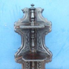Antigüedades: MAGNIFICA RINCONERA EN CAOBA DE CUBA SIGLO XIX. Lote 176945120