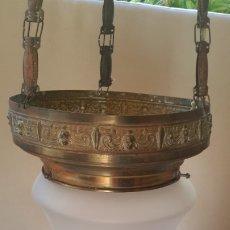 Antigüedades: ESPECTACULAR LÁMPARA ANTIGUA. Lote 176945977