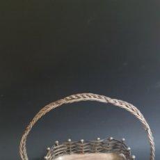 Antigüedades: BANDEJA EN FORMA DE CESTA. Lote 176959895