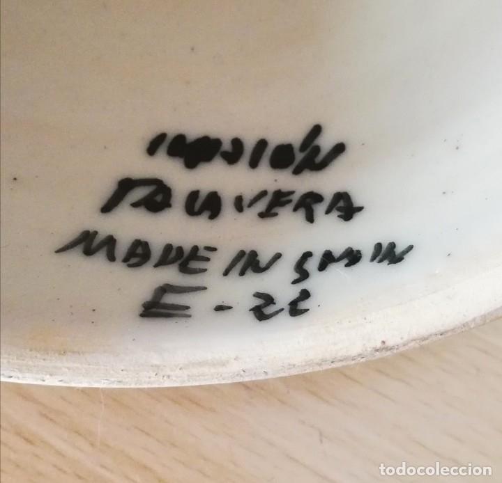 Antigüedades: Figura de mujer cerámica Talavera numerada - Foto 6 - 176981400