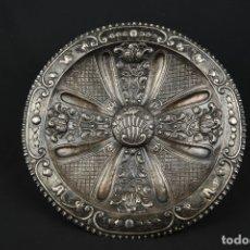 Antigüedades: EXTRAORDINARIA BANDEJA CORDOBESA DE PLATA SIGLO XVIII CON BONITA PATINA DEL TIEMPO CONTRASTE CRUZ. Lote 177002745