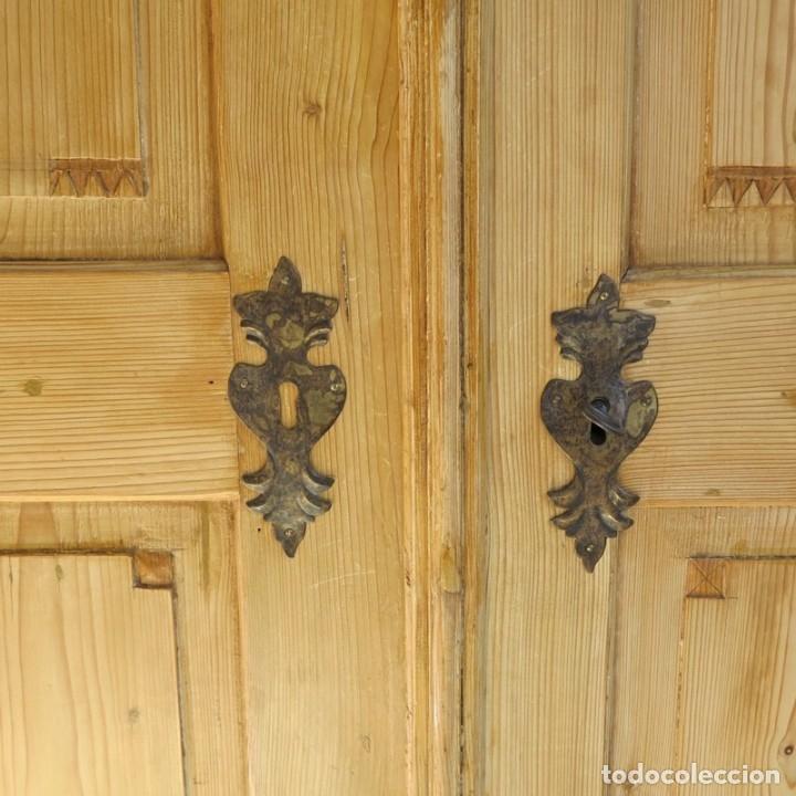 Antigüedades: ANTIGUO ARMARIO de madera de pino natural EN MUY BUEN ESTADO. 1850 - 1880 - Foto 10 - 177004800