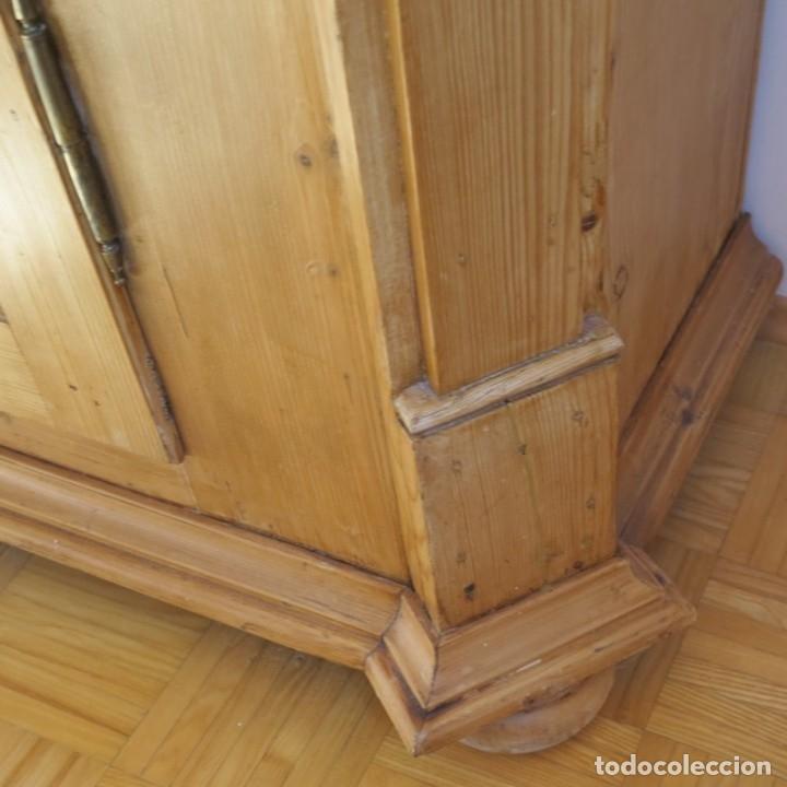 Antigüedades: ANTIGUO ARMARIO de madera de pino natural EN MUY BUEN ESTADO. 1850 - 1880 - Foto 12 - 177004800