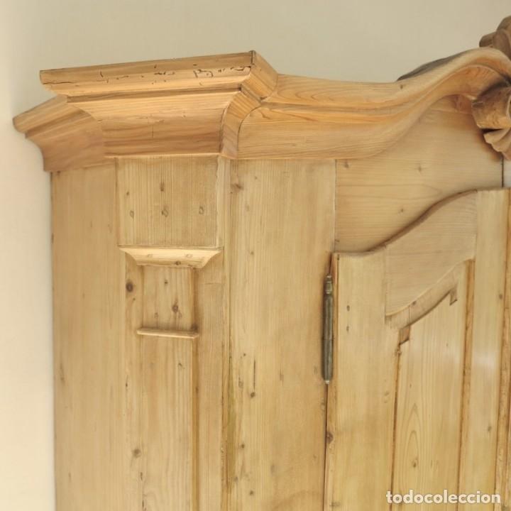 Antigüedades: ANTIGUO ARMARIO de madera de pino natural EN MUY BUEN ESTADO. 1850 - 1880 - Foto 13 - 177004800