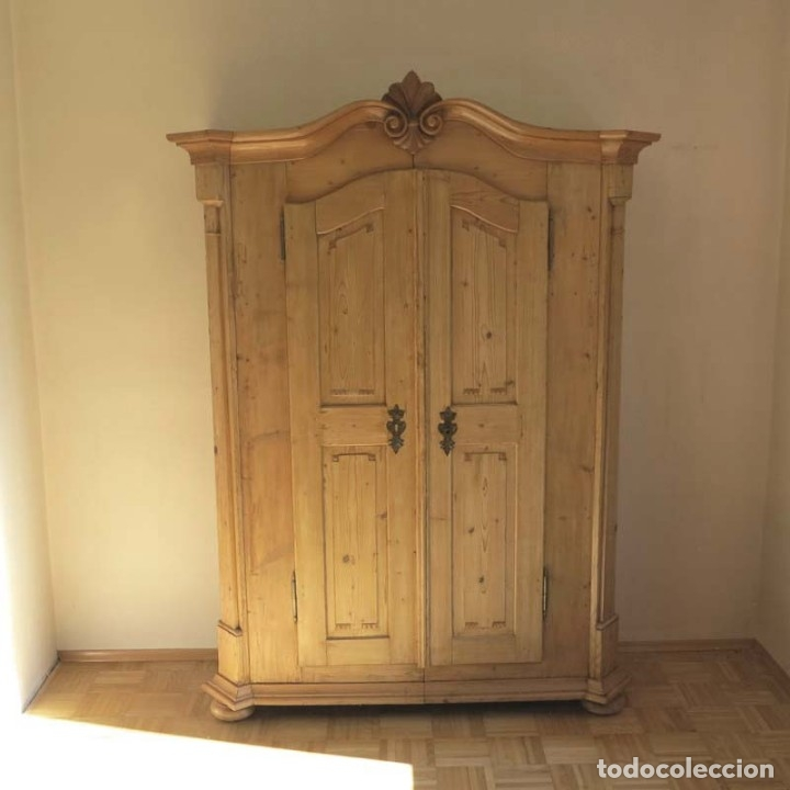 Antigüedades: ANTIGUO ARMARIO de madera de pino natural EN MUY BUEN ESTADO. 1850 - 1880 - Foto 14 - 177004800