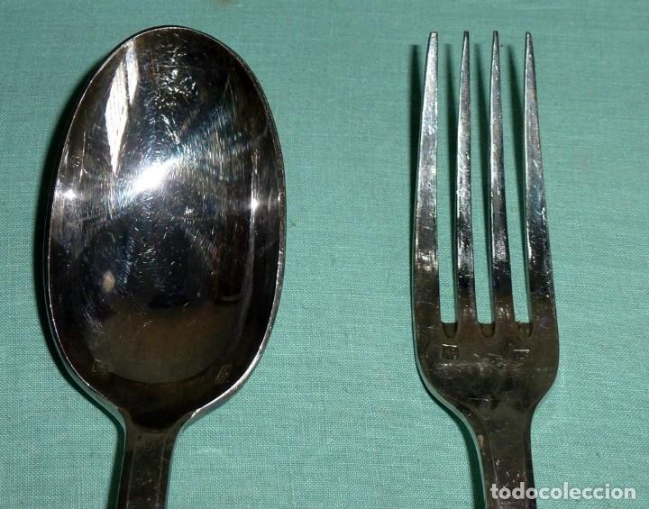 Antigüedades: Cuchara y tenedor punzonado - 60 Gr - Foto 2 - 177010937