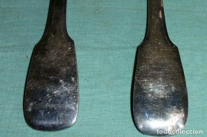 Antigüedades: Cuchara y tenedor punzonado - 60 Gr - Foto 5 - 177010937