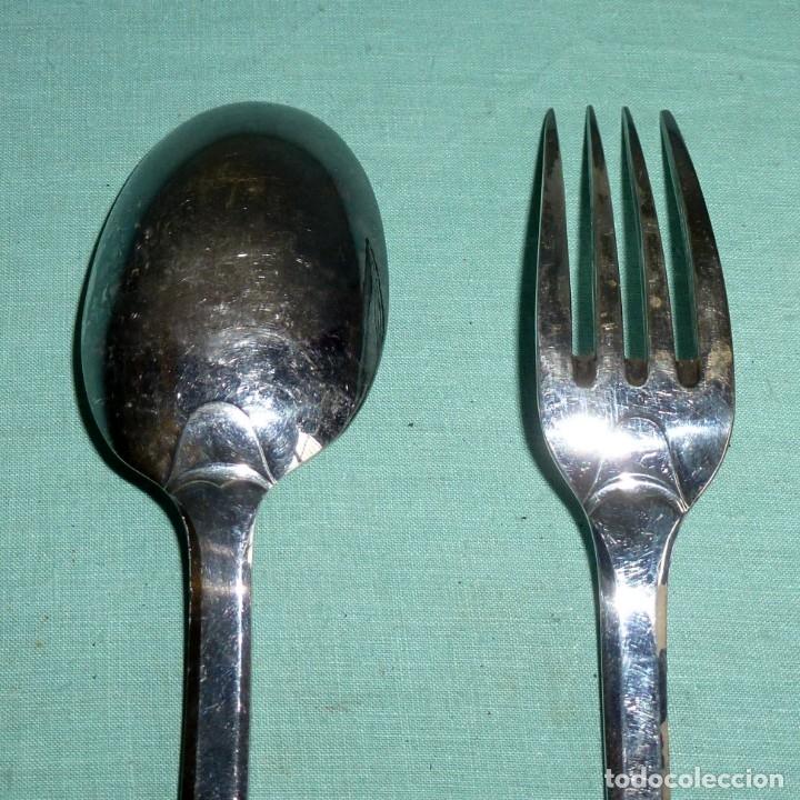 Antigüedades: Cuchara y tenedor punzonado - 60 Gr - Foto 6 - 177010937