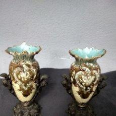 Antigüedades: PRECIOSA PAREJA DE FLOREROS . Lote 177015008