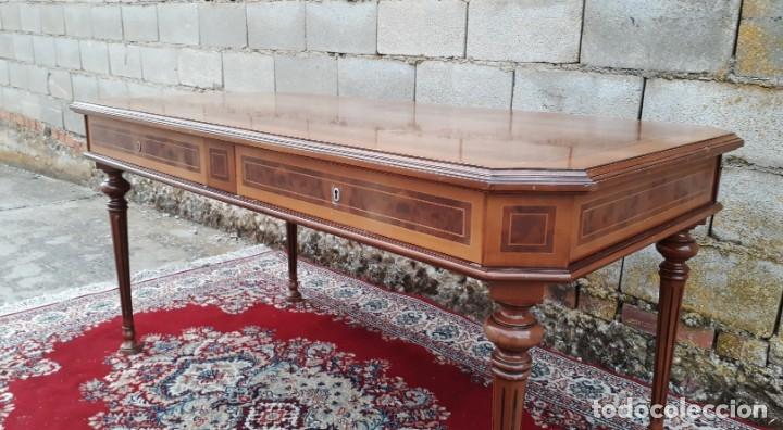 Antigüedades: Escritorio antiguo estilo Luis XVI. Mesa de despacho antigua estilo Luis XVI. Mesa estilo isabelino. - Foto 2 - 177026580