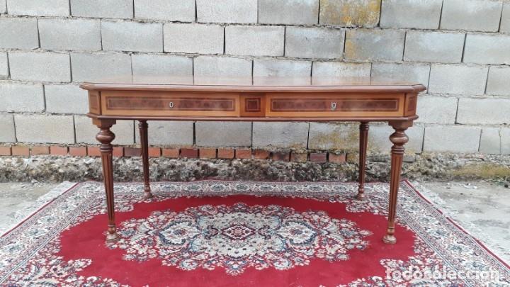 Antigüedades: Escritorio antiguo estilo Luis XVI. Mesa de despacho antigua estilo Luis XVI. Mesa estilo isabelino. - Foto 4 - 177026580