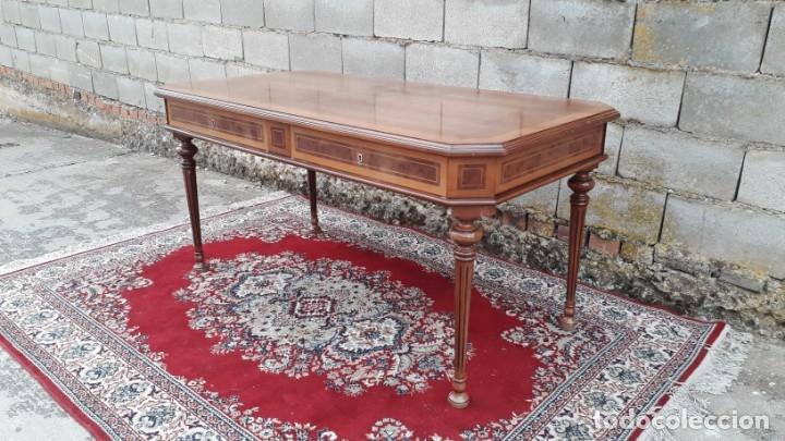 Antigüedades: Escritorio antiguo estilo Luis XVI. Mesa de despacho antigua estilo Luis XVI. Mesa estilo isabelino. - Foto 5 - 177026580