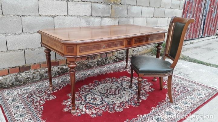 Antigüedades: Escritorio antiguo estilo Luis XVI. Mesa de despacho antigua estilo Luis XVI. Mesa estilo isabelino. - Foto 6 - 177026580