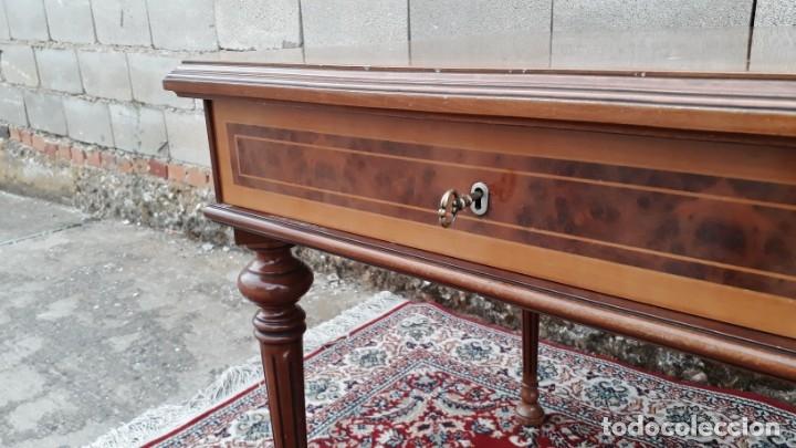 Antigüedades: Escritorio antiguo estilo Luis XVI. Mesa de despacho antigua estilo Luis XVI. Mesa estilo isabelino. - Foto 8 - 177026580