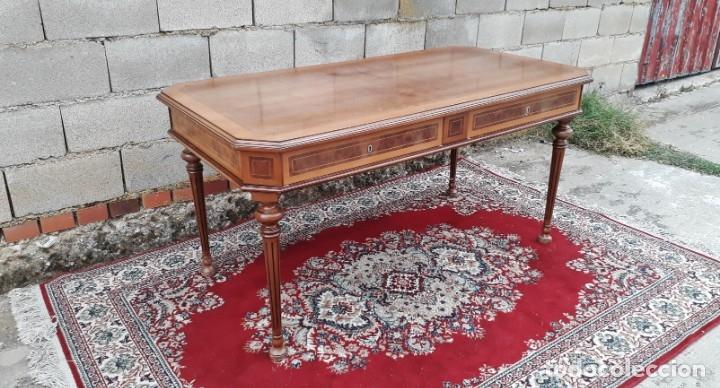 Antigüedades: Escritorio antiguo estilo Luis XVI. Mesa de despacho antigua estilo Luis XVI. Mesa estilo isabelino. - Foto 9 - 177026580