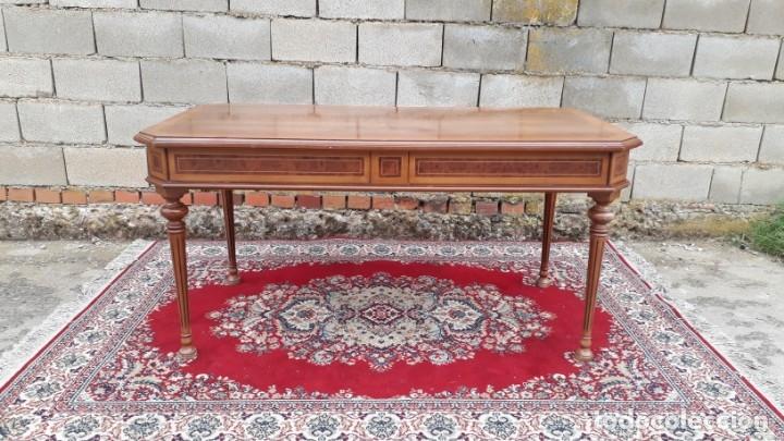 Antigüedades: Escritorio antiguo estilo Luis XVI. Mesa de despacho antigua estilo Luis XVI. Mesa estilo isabelino. - Foto 14 - 177026580
