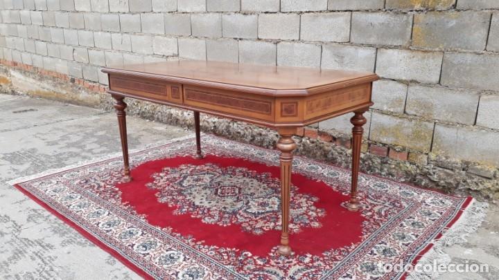 Antigüedades: Escritorio antiguo estilo Luis XVI. Mesa de despacho antigua estilo Luis XVI. Mesa estilo isabelino. - Foto 15 - 177026580