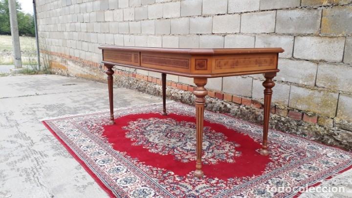 Antigüedades: Escritorio antiguo estilo Luis XVI. Mesa de despacho antigua estilo Luis XVI. Mesa estilo isabelino. - Foto 17 - 177026580