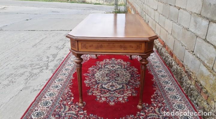 Antigüedades: Escritorio antiguo estilo Luis XVI. Mesa de despacho antigua estilo Luis XVI. Mesa estilo isabelino. - Foto 18 - 177026580