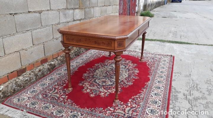 Antigüedades: Escritorio antiguo estilo Luis XVI. Mesa de despacho antigua estilo Luis XVI. Mesa estilo isabelino. - Foto 19 - 177026580