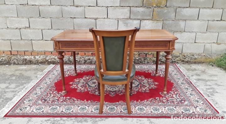 Antigüedades: Escritorio antiguo estilo Luis XVI. Mesa de despacho antigua estilo Luis XVI. Mesa estilo isabelino. - Foto 20 - 177026580