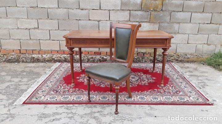Antigüedades: Escritorio antiguo estilo Luis XVI. Mesa de despacho antigua estilo Luis XVI. Mesa estilo isabelino. - Foto 21 - 177026580