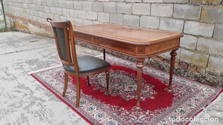 Antigüedades: Escritorio antiguo estilo Luis XVI. Mesa de despacho antigua estilo Luis XVI. Mesa estilo isabelino. - Foto 22 - 177026580