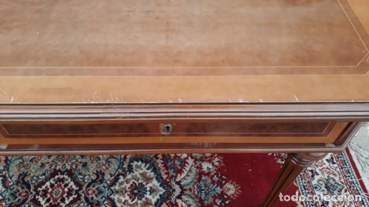 Antigüedades: Escritorio antiguo estilo Luis XVI. Mesa de despacho antigua estilo Luis XVI. Mesa estilo isabelino. - Foto 25 - 177026580