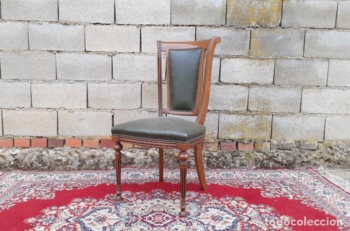 Antigüedades: Escritorio antiguo estilo Luis XVI. Mesa de despacho antigua estilo Luis XVI. Mesa estilo isabelino. - Foto 26 - 177026580