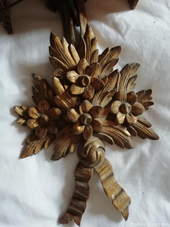 Antigüedades: Aplique de talla y Pergamino proceso - Foto 2 - 177033549