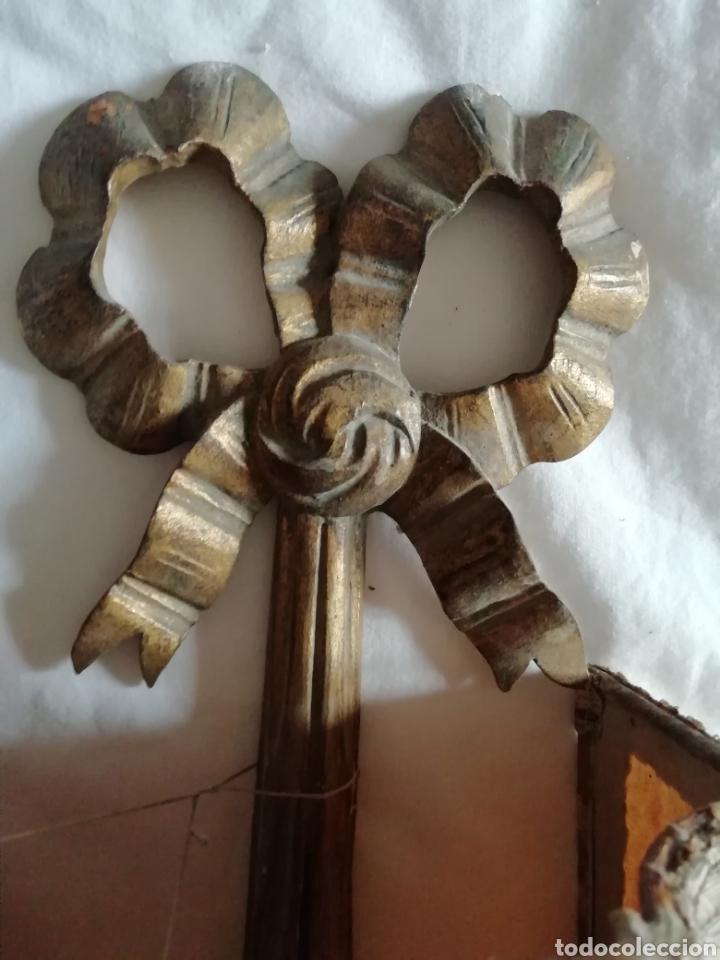 Antigüedades: Aplique de talla y Pergamino proceso - Foto 4 - 177033549