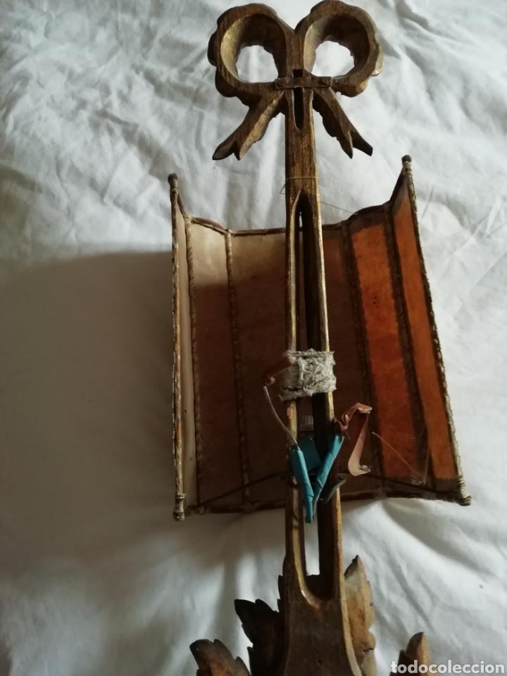 Antigüedades: Aplique de talla y Pergamino proceso - Foto 5 - 177033549