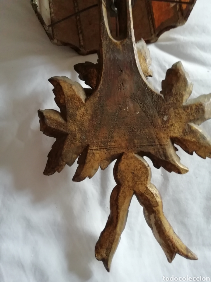 Antigüedades: Aplique de talla y Pergamino proceso - Foto 6 - 177033549