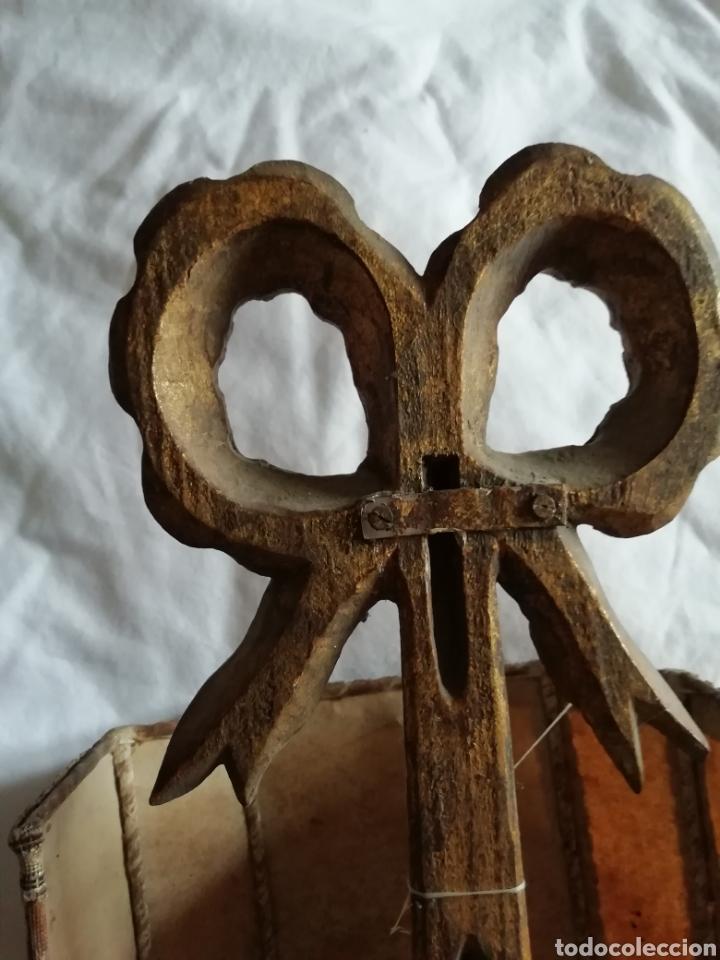 Antigüedades: Aplique de talla y Pergamino proceso - Foto 7 - 177033549