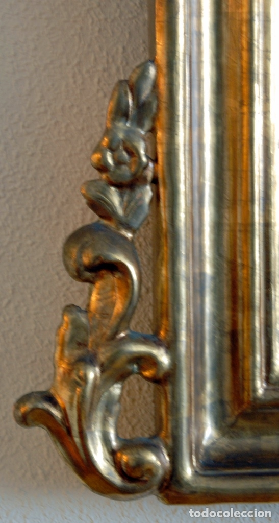 Antigüedades: ESPEJO ESTILO ISABELINO - MADERA Y ESCAYOLA - Foto 5 - 177040579
