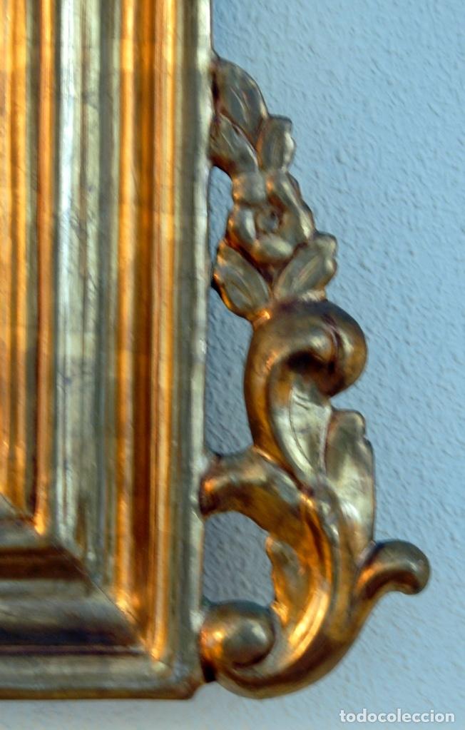 Antigüedades: ESPEJO ESTILO ISABELINO - MADERA Y ESCAYOLA - Foto 6 - 177040579