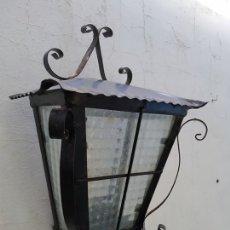 Antigüedades: ANTIGUO APLIQUE PARED HIERRO EXTERIOR IDEAL JARDIN CASA RURAL. Lote 177044625