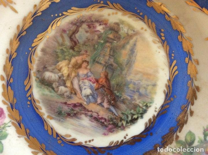 Antigüedades: Plato antiguo 21cm de diámetro firmado de porcelana. - Foto 3 - 177047237