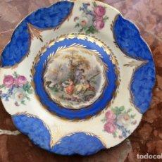 Antigüedades: PLATO ANTIGUO 21CM FIRMADO DE PORCELANA.. Lote 177047578