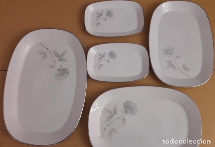 LOTE 5 FUENTES PORCELANA SANTA CLARA. VIGO (Antigüedades - Porcelanas y Cerámicas - Santa Clara)