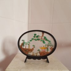 Antigüedades: VITRINA DIORAMA CHINO REALIZADO EN CORCHO. Lote 177053067