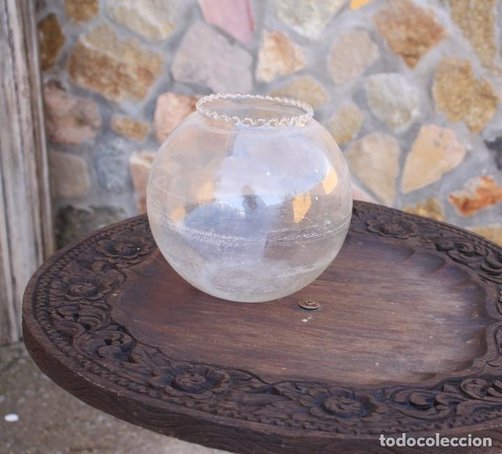 Antigüedades: Pecera de cristal soplado - Foto 3 - 177054474