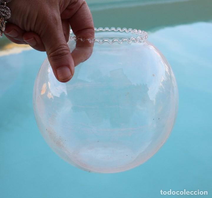 Antigüedades: Pecera de cristal soplado - Foto 5 - 177054474
