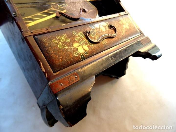 Antigüedades: ANTIGUO JOYERO – ARMARIO TOCADOR MINIATURA – LACADO - JAPÓN – JAPONISME - Foto 14 - 177055227