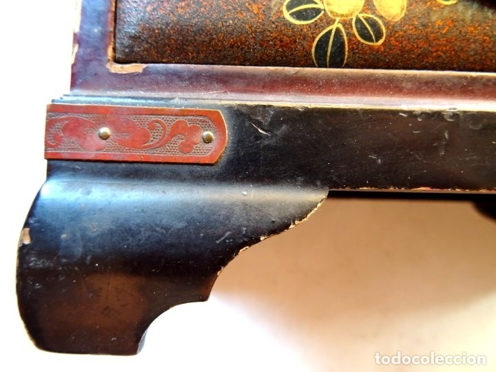 Antigüedades: ANTIGUO JOYERO – ARMARIO TOCADOR MINIATURA – LACADO - JAPÓN – JAPONISME - Foto 16 - 177055227