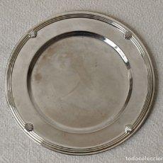 Antigüedades: PLATO O BANDEJA DE METAL PLATEADO. 15 CM DIAMETRO. VER FOTOS Y DESCRIPCION.. Lote 177063035