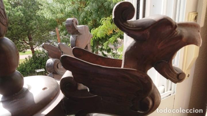 Antigüedades: ANTIGUA LAMPARA DE TECHO DE MADERA - Foto 9 - 177070277