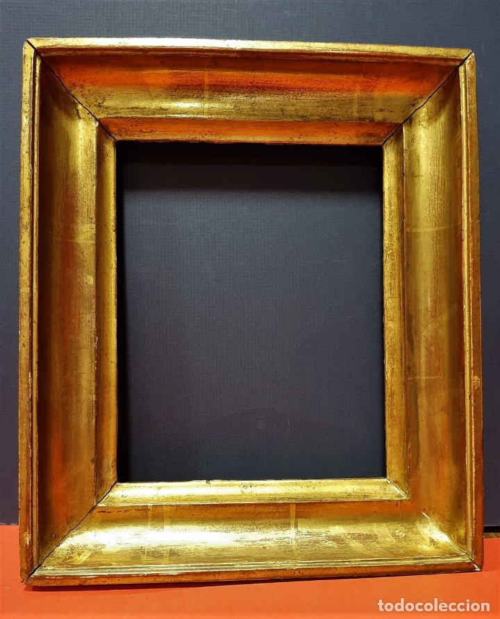 MARCO DE MADERA DORADA. FRANCIA, S. XIX. (Antigüedades - Hogar y Decoración - Marcos Antiguos)